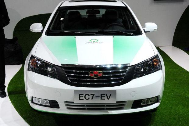 13上海车展 吉利帝豪 EC7电动版发布高清图片