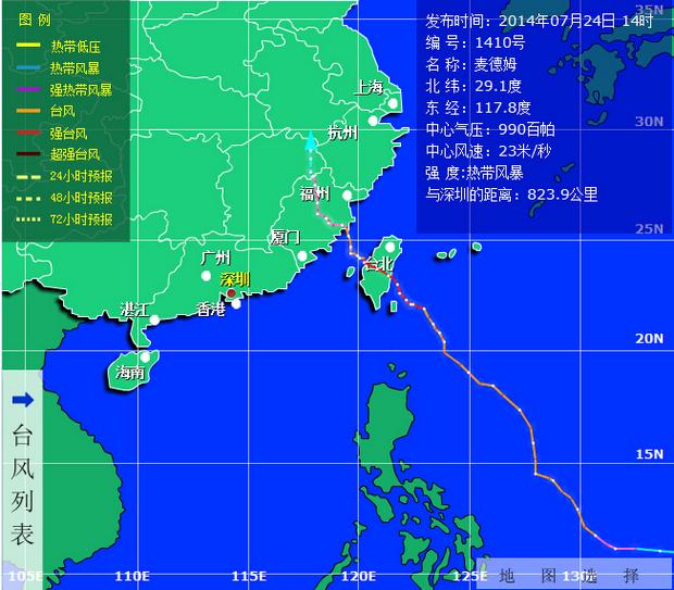 台风天气用车注意事项