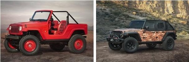复古改造 Jeep为越野大会推出7款概念车