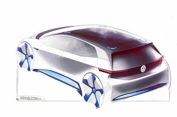大众新纯电动概念车的设计理念与常规燃油车型不同,由于采用纯电动力总成,新车车头部分更加紧凑,进气格栅和大灯组有望采用全新设计思路。新车的另一项特别之处在于,后排车门将使用向后滑动开启的方式(这种开门方式多见于MPV车型上,根据此前的报道,大众这款新车为紧凑型车),具体设计细节还要等实车亮相后方可知晓。