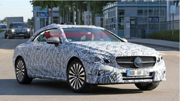 最新-2017年发布 奔驰全新E级敞篷版谍照曝光图片