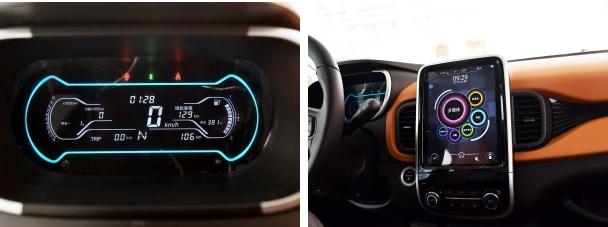 奇瑞小蚂蚁的内饰设计同样非常时尚,橙黑双色搭配的内饰配色呈现年轻化的内部氛围,电子仪表盘和中控台配备的大尺寸液晶显示屏也同样能够满足年轻消费者的喜好。此外,新车还配备有多功能方向盘、一键启动、旋钮式换挡、电子手刹等配置。