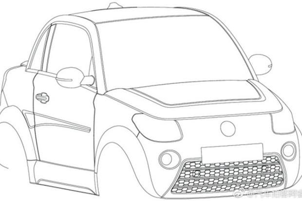 造型设计格外新颖 赛麟新微型车专利图