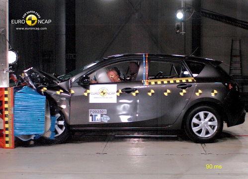 碰撞测试车型六:马自达3-碰撞出真知 10款碰撞儿童保护出色车型高清图片
