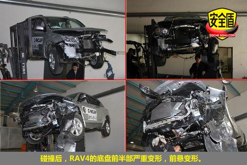 丰田rav4碰撞图解 正碰后4门可正常开启