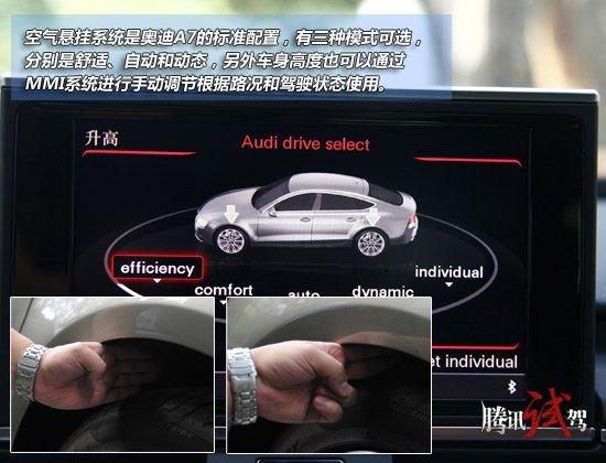 奥迪A7全系购车手册 个性选装方案丰富高清图片