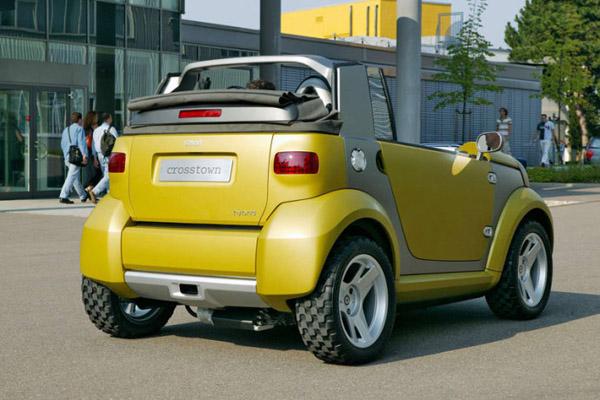smart vs 越野卡车   同样模仿越野车,如果smart crosstown高清图片
