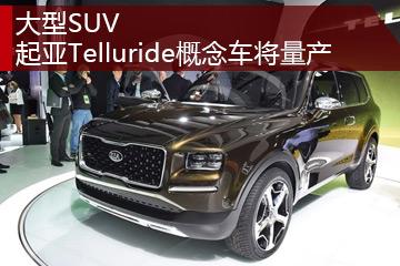 大型SUV 起亚Telluride概念车将量产