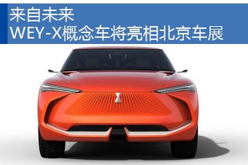 来自未来 WEY-X概念车将亮相北京车展