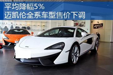 平均降幅5% 迈凯伦全系车型售价下调